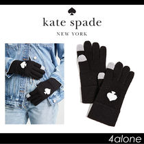 kate spade new york Wool Street Style Plain Elegant Style Smartphone Use Gloves