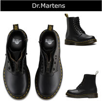 Dr Martens Platform Plain Toe Mountain Boots Casual Style Plain