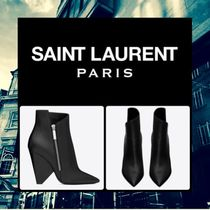 Saint Laurent Niki Leather Ankle & Booties Boots