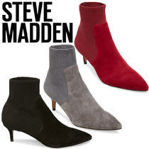 Steve Madden Suede Plain Pin Heels Elegant Style Ankle & Booties Boots