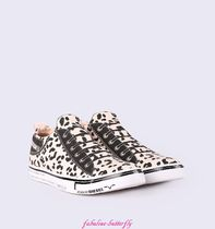 DIESEL Leopard Patterns Unisex Sneakers
