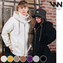 WV PROJECT Unisex Street Style Collaboration Long Sleeves Plain Cotton