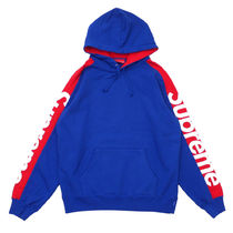 Supreme Pullovers Unisex Street Style Long Sleeves Cotton Oversized