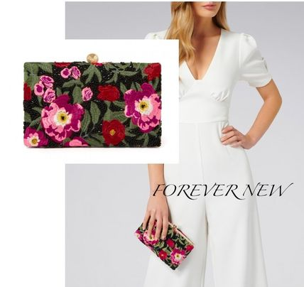 Flower Patterns 2WAY Party Style Clutches
