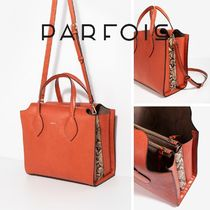 PARFOIS 2WAY Office Style Python Totes