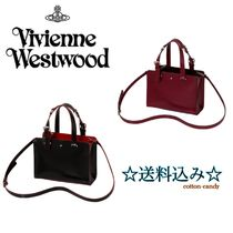 Vivienne Westwood Star 2WAY Plain Leather Totes