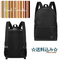 Paul Smith Stripes Nylon Plain Backpacks