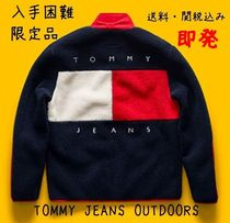 Tommy Hilfiger Street Style Long Sleeves Oversized Sweatshirts