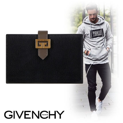 GIVENCHY Folding Wallets Unisex Leather Folding Wallets
