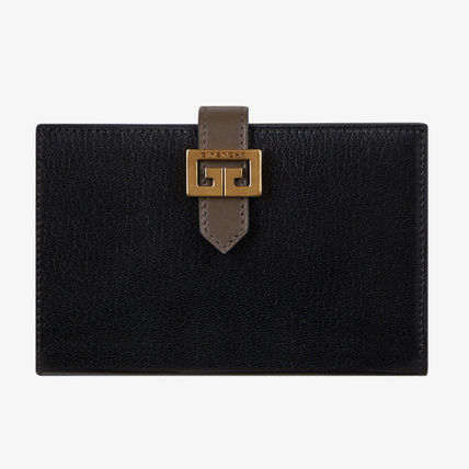 GIVENCHY Folding Wallets Unisex Leather Folding Wallets 2