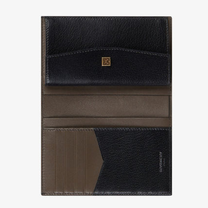 GIVENCHY Folding Wallets Unisex Leather Folding Wallets 5