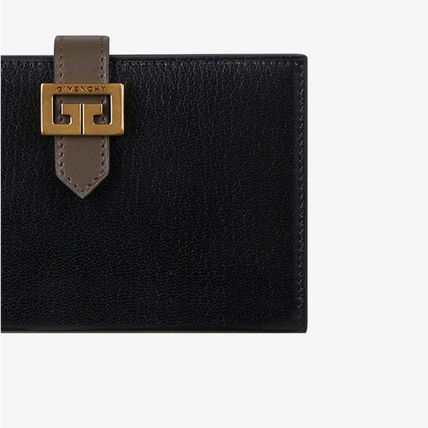 GIVENCHY Folding Wallets Unisex Leather Folding Wallets 6