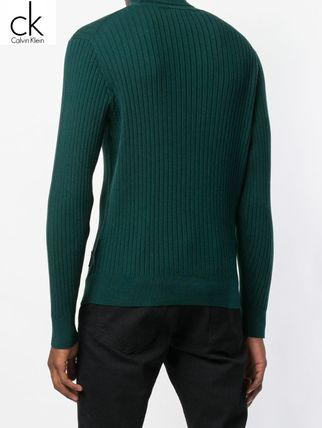 Calvin Klein Knits & Sweaters Street Style Long Sleeves Plain Cotton Oversized 6