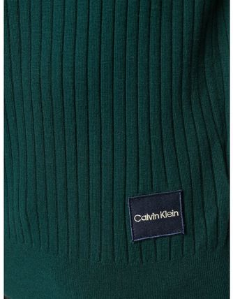 Calvin Klein Knits & Sweaters Street Style Long Sleeves Plain Cotton Oversized 7