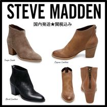 Steve Madden Plain Leather Ankle & Booties Boots