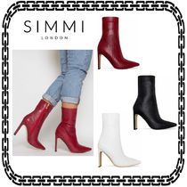 SIMMI Street Style Other Animal Patterns Block Heels Elegant Style