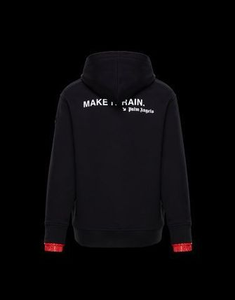 MONCLER Hoodies Long Sleeves Cotton Logos on the Sleeves Hoodies 2