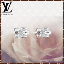 Louis Vuitton MONOGRAM Blended Fabrics Flower Chain With Jewels Elegant Style