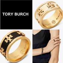 Tory Burch Costume Jewelry Brass Elegant Style Rings
