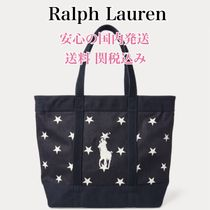 Ralph Lauren Star Casual Style A4 Plain Totes