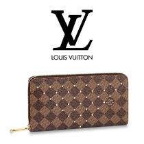 Louis Vuitton Unisex Studded Leather Long Wallets
