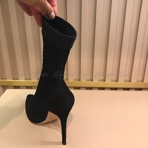 Gianvito Rossi Casual Style Leather Pin Heels High Heel Boots