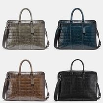 Coach A4 Plain Leather Business & Briefcases