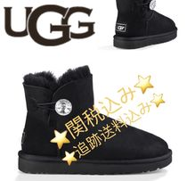 UGG Australia Round Toe Casual Style Suede Plain Flat Boots