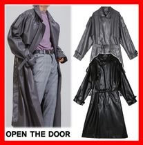 OPEN THE DOOR Unisex Street Style Oversized Trench Coats
