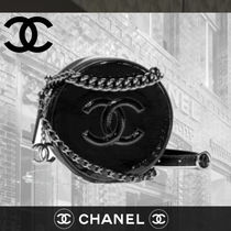 CHANEL Calfskin Party Style Shoulder Bags