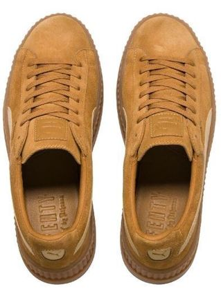 PUMA Low-Top Rubber Sole Suede Plain Low-Top Sneakers 3