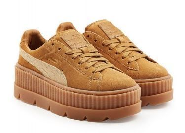 PUMA Low-Top Rubber Sole Suede Plain Low-Top Sneakers 4