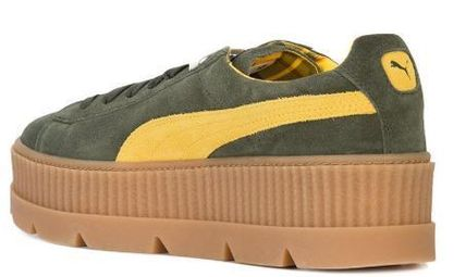 PUMA Low-Top Rubber Sole Suede Plain Low-Top Sneakers 5