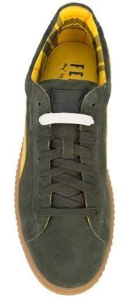 PUMA Low-Top Rubber Sole Suede Plain Low-Top Sneakers 8