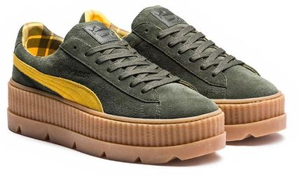 PUMA Low-Top Rubber Sole Suede Plain Low-Top Sneakers 9