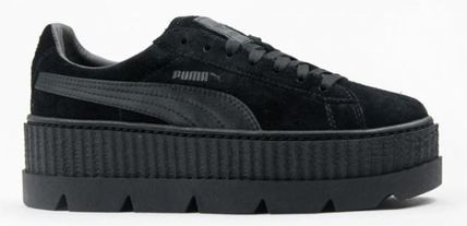 PUMA Low-Top Rubber Sole Suede Plain Low-Top Sneakers 15