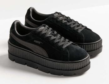 PUMA Low-Top Rubber Sole Suede Plain Low-Top Sneakers 17