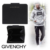 GIVENCHY Unisex Street Style Plain Leather Folding Wallets