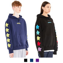 Charm's Star Unisex Street Style Long Sleeves Cotton Oversized