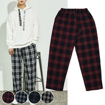 Printed Pants Glen Patterns Unisex Street Style
