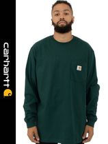 Carhartt Crew Neck Street Style Long Sleeves Long Sleeve T-Shirts