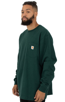 Carhartt Long Sleeve Crew Neck Street Style Long Sleeves Long Sleeve T-Shirts 2