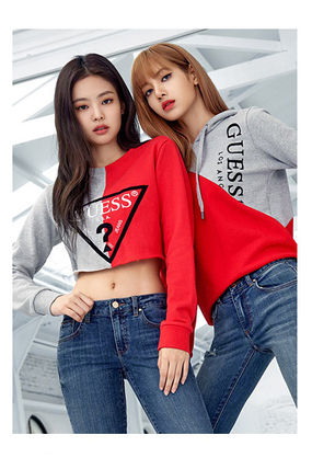 Guess Hoodies Unisex Collaboration Long Sleeves Cotton Hoodies 2