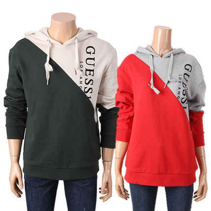 Guess Hoodies Unisex Collaboration Long Sleeves Cotton Hoodies 4