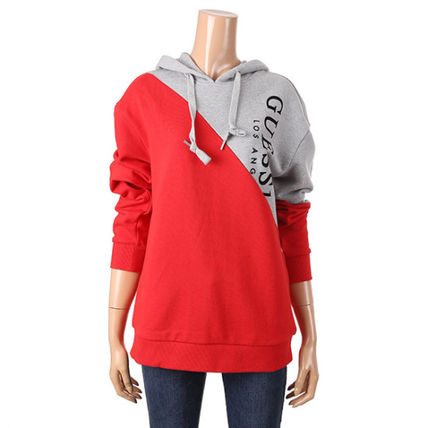 Guess Hoodies Unisex Collaboration Long Sleeves Cotton Hoodies 6