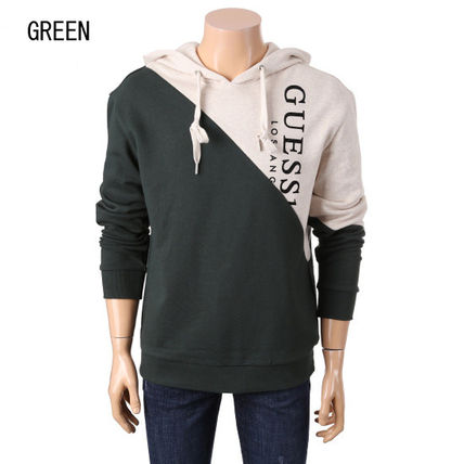 Guess Hoodies Unisex Collaboration Long Sleeves Cotton Hoodies 7