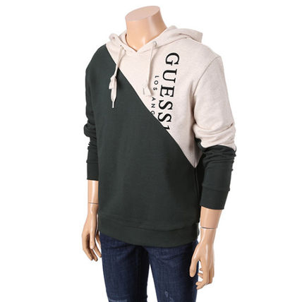 Guess Hoodies Unisex Collaboration Long Sleeves Cotton Hoodies 8