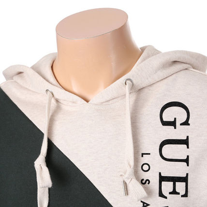 Guess Hoodies Unisex Collaboration Long Sleeves Cotton Hoodies 10