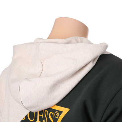 Guess Hoodies Unisex Collaboration Long Sleeves Cotton Hoodies 13