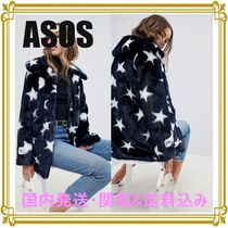 ASOS Short Star Casual Style Faux Fur Blended Fabrics Jackets